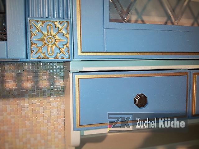 Englische landhausküche blau  Hausmarke-Musterküche Blau Englische Landhausküche aus Massivholz ...