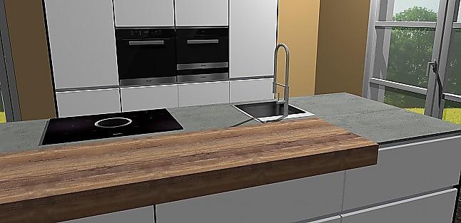 nobilia musterk che umplanbare hochgl lack k che miele ger ten und bora dunstabzug mit theke. Black Bedroom Furniture Sets. Home Design Ideas