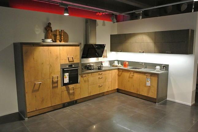 wellmann musterk che front in vintage eiche nachbildung inkl elektroger te achtung achtung. Black Bedroom Furniture Sets. Home Design Ideas