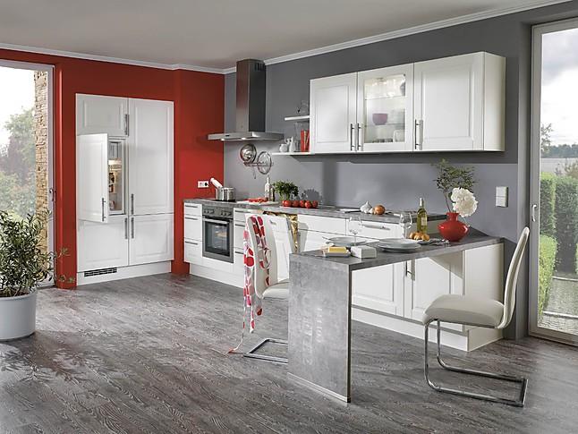 nobilia musterk che front aviano lack wei matt ausstellungsk che in von. Black Bedroom Furniture Sets. Home Design Ideas