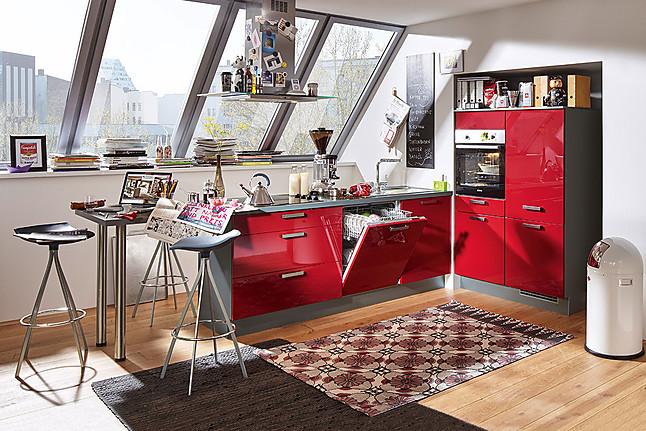 KüchenTreff-Musterküche Kleine Küche mit Theke: Ausstellungsküche in von
