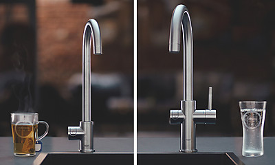 Wassersysteme: Links GROHE Red und rechts GROHE Blue