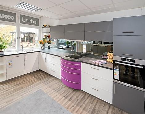 Sonderpreis für hochwertige brigitte küche zweifarbig in weiß
