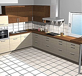 kitchenclick musterk che wei e hochglanz k che mit theke ausstellungsk che in birkenfeld von. Black Bedroom Furniture Sets. Home Design Ideas