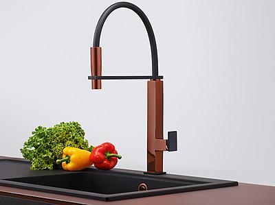 Küchenarmatur im edlen Design der Kupfer Edition