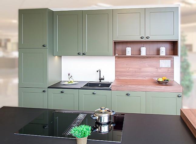 Nolte-Musterküche Moderne Stilvolle Küche In Olive Und