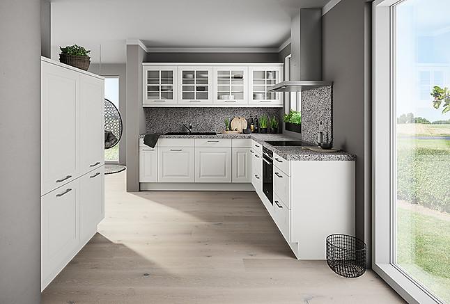 Aktionsküchen Komfort mit Granit und Siemens-Elektrogeräten - L-Küche