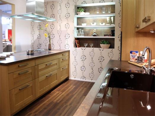 alno musterk che klassische k che mit halbinsel zum abverkaufspreis ausstellungsk che in. Black Bedroom Furniture Sets. Home Design Ideas