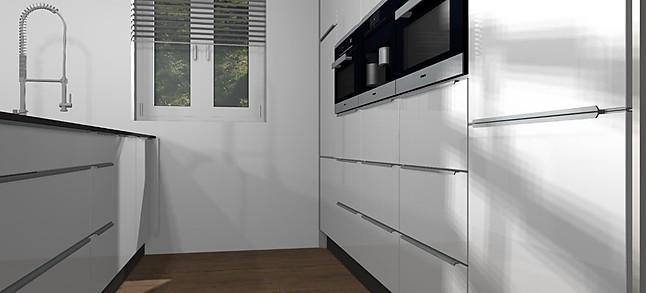 Küchenzeile Bosch ~ nobilia musterküche küche mit küchenzeile in hochglanz und den top geräten von bosch und bora