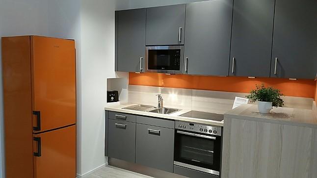 altano-musterküche moderne l-küche in anthrazitgrau/akazie mit, Hause ideen