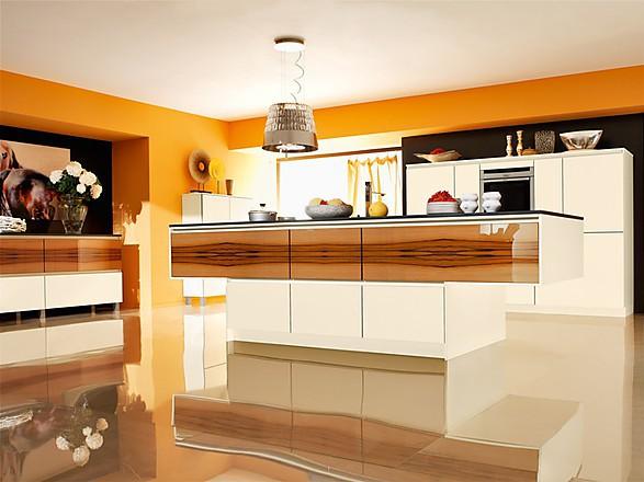 Weisse Kueche Holz Modern Design - Design