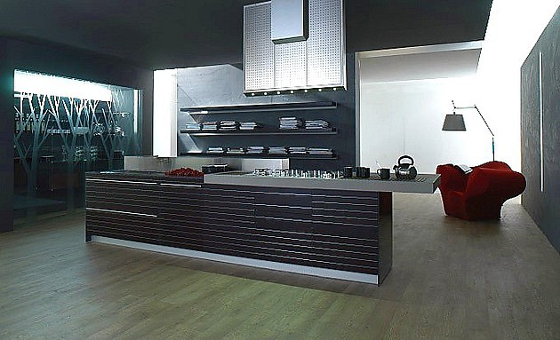 k che artematica fineline scuro in aluminium und schwarz valcucine k chen. Black Bedroom Furniture Sets. Home Design Ideas