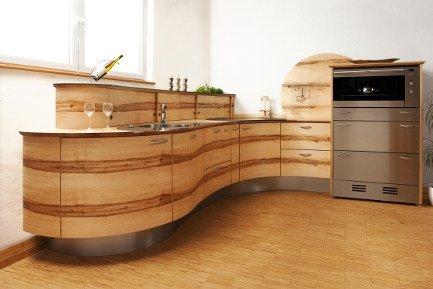 Runde Küche aus Holz