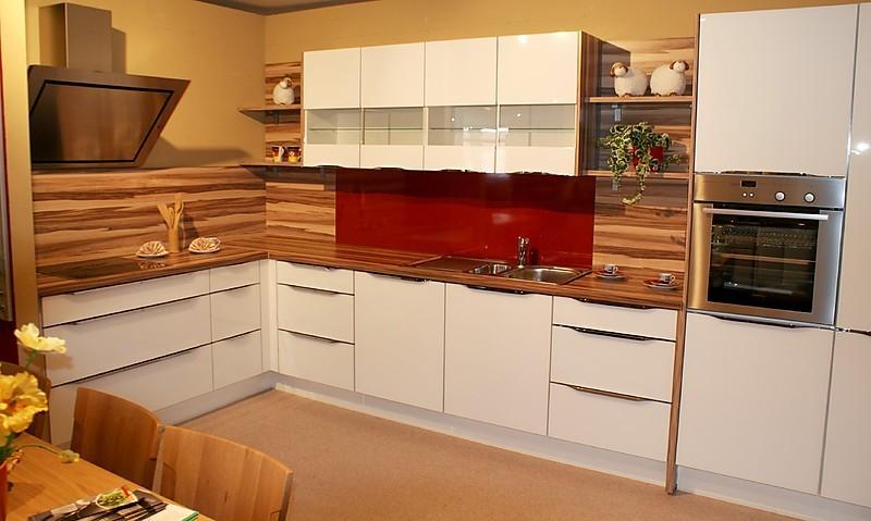 nobilia musterk che vetra glas wei ausstellungsk che in garrel von m belhaus kemper. Black Bedroom Furniture Sets. Home Design Ideas