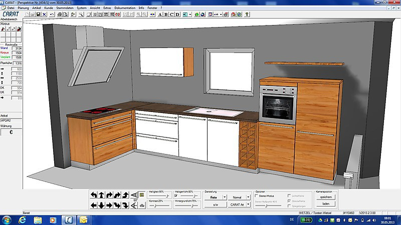 team7 musterk che team 7 massivholzk che ausstellungsk che in bad d rkheim von. Black Bedroom Furniture Sets. Home Design Ideas