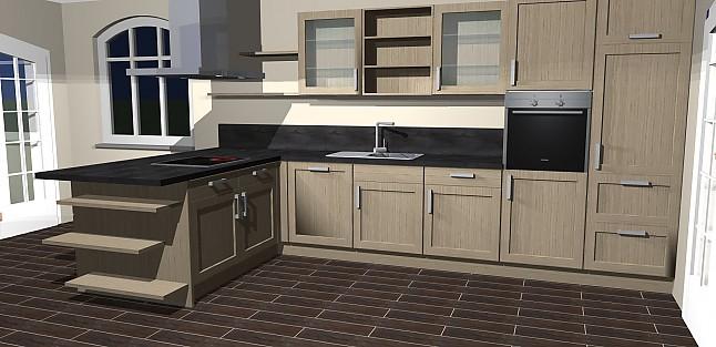 Nobilia-Musterküche Umplanbare Moderne L- Küche mit Insel in ...