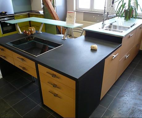 schmidt k chen musterk che einmalig schmidt esprit eiche opal echtholz furnierte einbauk che. Black Bedroom Furniture Sets. Home Design Ideas