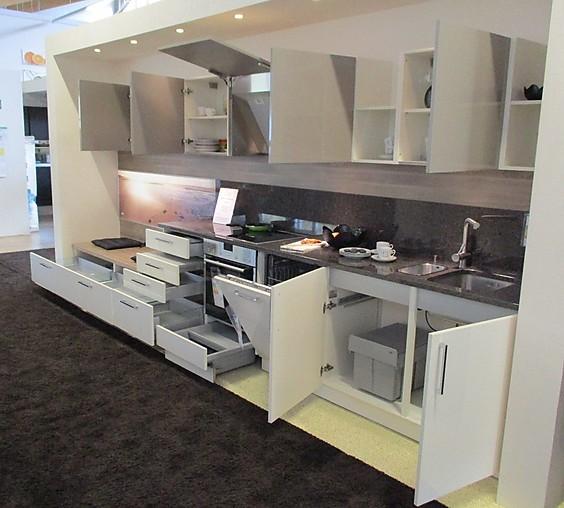 Nolte küchen magnolia hochglanz  Nolte-Musterküche (Ausstellungsküche, Nolte Küchen ...