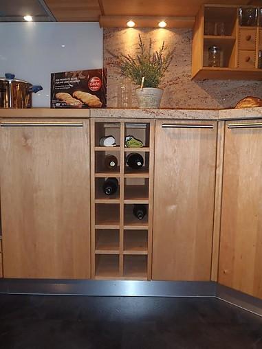team 7 musterk che einbauk che erle vollholz natur l mit naturstein arbeitsplatte. Black Bedroom Furniture Sets. Home Design Ideas