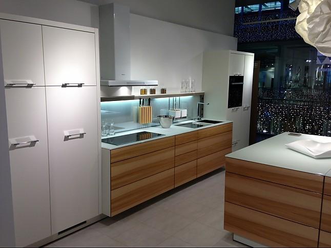 Horizontal glänzend mit funierbild küche modern mit edelfunier