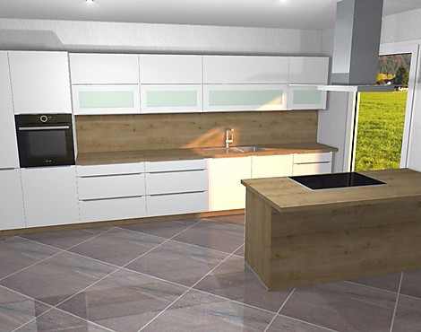 Samt matte küche mit insel hoch gebautem backofen voll integrierter geschirrspüler toutch
