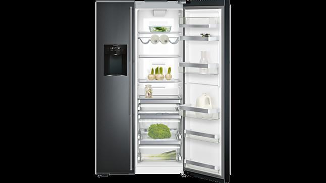 Kühlschrank Alarm Offene Tür : Kühlschrank rs 295 freistehender side by side kühl und