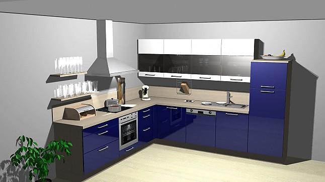 kitchenclick musterk che hochgl nzende l k che ausstellungsk che in von. Black Bedroom Furniture Sets. Home Design Ideas