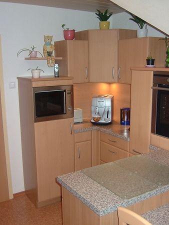 Küche in hellem Holz, zeitlos