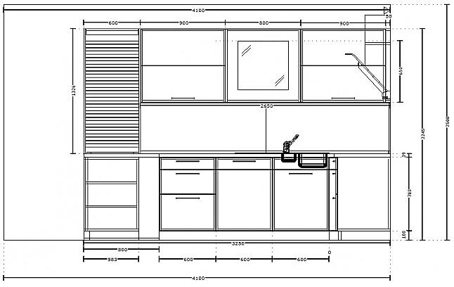 sch ller musterk che moderne u k che mit glas. Black Bedroom Furniture Sets. Home Design Ideas
