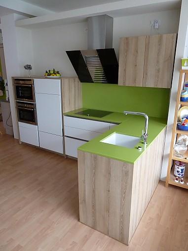 m ller k chen musterk che moderne grifflose wei e mattlack k che ausstellungsk che in wetter. Black Bedroom Furniture Sets. Home Design Ideas