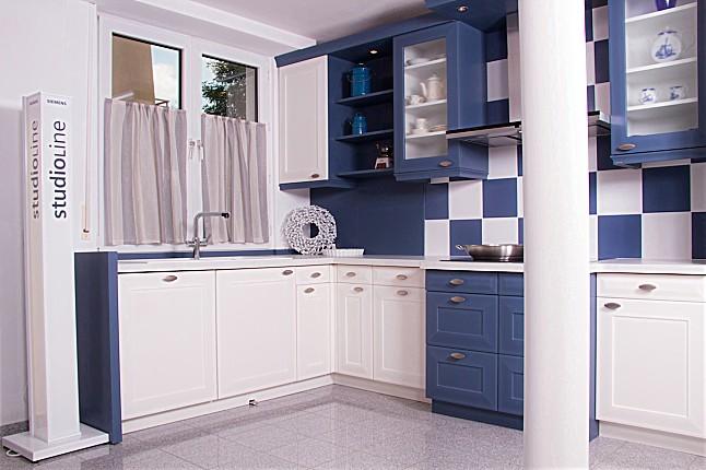 rational musterk che scaninavische landhausk che wei blau ausstellungsk che in partenstein. Black Bedroom Furniture Sets. Home Design Ideas