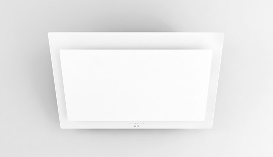 Dunstabzug 7839 Kopffreihaube Vision 90 Cm Glas Weiß Inklusive