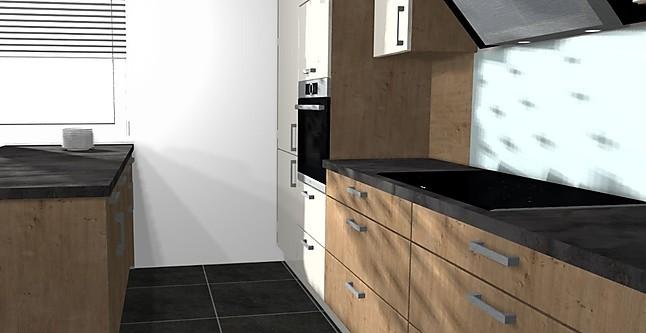 nobilia musterk che l k che mit arbeitsinsel bosch ger ten und keramiksp le ausstellungsk che. Black Bedroom Furniture Sets. Home Design Ideas
