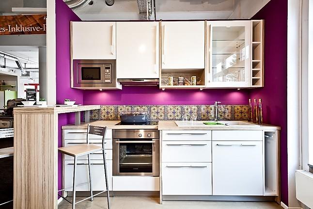 schüller-musterküche moderne einbauküche, hochglanz