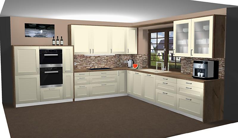 hausmarke musterk che mikro strukturlack magnolia ausstellungsk che in buchholz von k che la. Black Bedroom Furniture Sets. Home Design Ideas