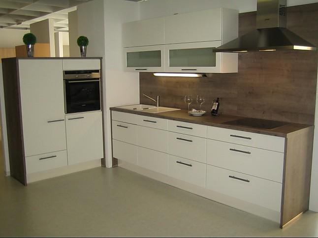 nobilia musterk che wei supermatt ausstellungsk che in von. Black Bedroom Furniture Sets. Home Design Ideas