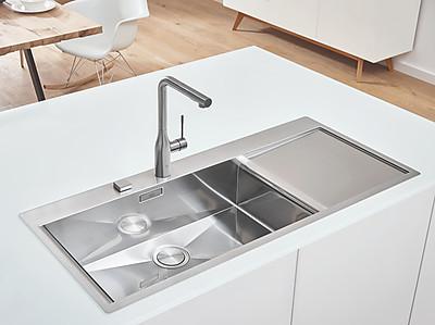 Edelstahlspüle K1000 von GROHE in modernem Design
