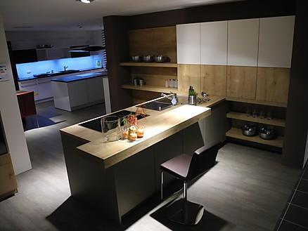 Exklusive Küche mit Theke