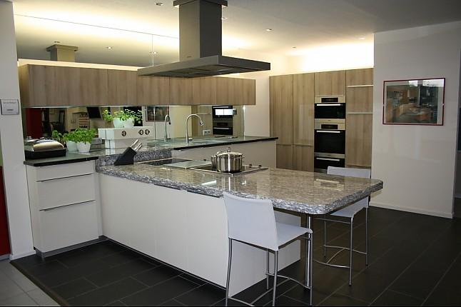 schmidt k chen musterk che moderne k che magnolia stone oak ausstellungsk che in weissach im. Black Bedroom Furniture Sets. Home Design Ideas