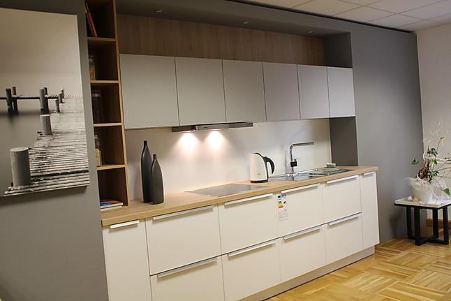 Schüller pura resopal kristallweiß matt steingrau matt andere dekore möglich moderne einbauküche angebotsküche