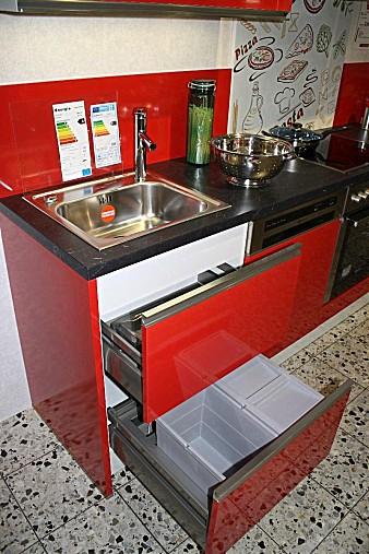 Küchenzeile Krefeld ~ häcker musterküche moderne küchenzeile in rot glänzend inkl bauknecht elektrogeräten