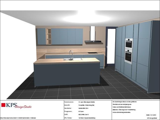 nobilia musterk che nobilia 615 laser 413 mineralgrau grifflos neuheit aktion mit bosch ger ten. Black Bedroom Furniture Sets. Home Design Ideas