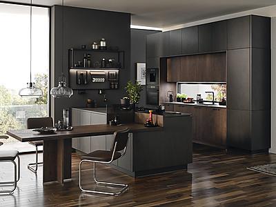 Moderne Küche mit Kochinsel von BAUFORMAT Küchen