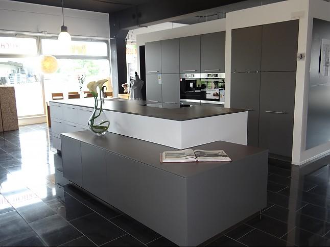 nolte musterk che matrix 900 soft lack arctiweiss quarzgrau bosch silestone ausstellungsk che. Black Bedroom Furniture Sets. Home Design Ideas