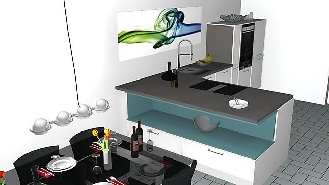 Puristische Küchenzeile ~ nolte musterküche puristische küchenzeile mit arbeitsplattenhaube und offener