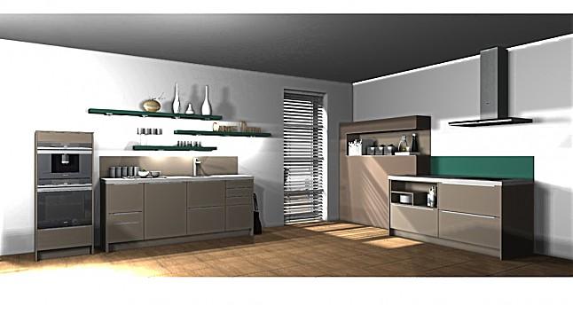ballerina musterk che l4 xl 1296 kaschmir matt mintt rkis ausstellungsk che in lingen von i. Black Bedroom Furniture Sets. Home Design Ideas