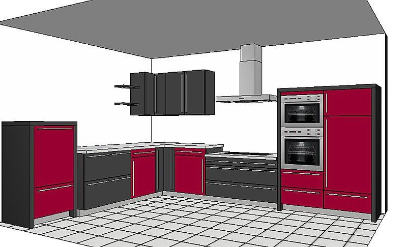 eggersmann musterk che hochwertige moderne k che polargrau rubinrot ausstellungsk che in von. Black Bedroom Furniture Sets. Home Design Ideas