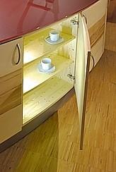 pfister naturholzk chen musterk che abverkaufsk che runde k cheninsel ausstellungsk che in. Black Bedroom Furniture Sets. Home Design Ideas