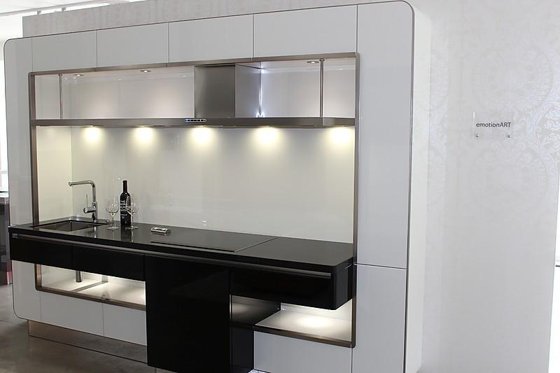 h cker musterk che design modul hochglanz lack grifflos luxus pur ausstellungsk che in zeven. Black Bedroom Furniture Sets. Home Design Ideas