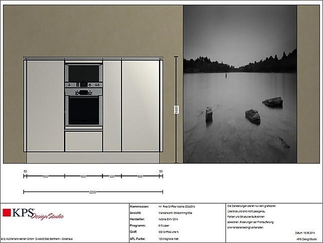 nobilia musterk che angebotsk che nobilia grifflose. Black Bedroom Furniture Sets. Home Design Ideas
